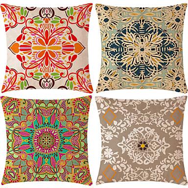 4.0 kom Pamuk / Posteljina Navlaka za jastuk, Geometrijski oblici Patterned Klasika Mértani Clasic