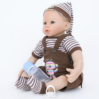 FeelWind Autentične bebe Za muške bebe 22 inch Silikon Vinil - vjeran Ručno Izrađen Slatko Sigurno za djecu Djeca / Teen Non Toxic Dječjom Uniseks Igračke za kućne ljubimce Poklon