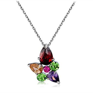 Žene Više boja Kristal Ogrlice s privjeskom Singapur Cvijet Klasik Moderna Elegantno Glina Krom Duga 43 cm Ogrlice Jewelry 1pc Za Dnevno Formalan