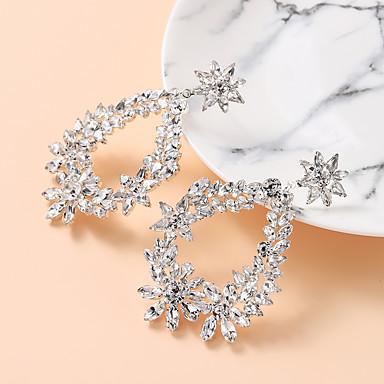 Žene Bijela Kubični Zirconia Viseće naušnice Geometrijski Moda Imitacija dijamanta Naušnice Jewelry Pink Za Vjenčanje Praznik 1 par