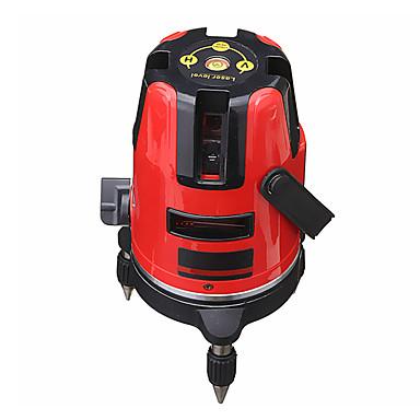 voordelige Waterpasinstrumenten-5 lijnen 6 punten professionele waterdichte laser niveau rode automatische niveau 360xc2xb0 roterende outdoor-modus statief