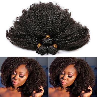 povoljno Ekstenzije za kosu-3 paketa Brazilska kosa Afro Kinky Remy kosa Ekstenzije od ljudske kose 10-28 inch Natural Isprepliće ljudske kose Najbolja kvaliteta Novi Dolazak Rasprodaja Proširenja ljudske kose