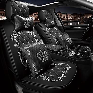 levne Doplňky do interiéru-5 sedadel koruna design karikatura potah sedadla se dvěma opěrkami hlavy a dvěma pasovými polštáři / pu kůže / airbag kompatibilita / nastavitelné a odnímatelné / čtyři roční období univerzální