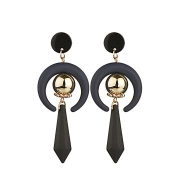 voordelige Dames Sieraden-Dames Druppel oorbellen Peer Bal aar Standaard Hars Verguld oorbellen Sieraden Zwart Voor Causaal 1 paar