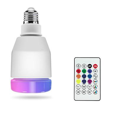 1pc rgbw vodio pametne žarulje e27 vodio lampa daljinski upravljač Bluetooth 4.0 zvučnik glazba šarene zatamniti LED svjetlo ac100-240v