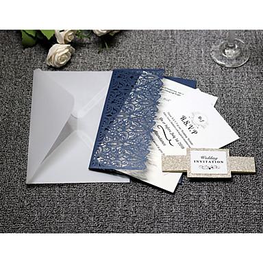 Side Fold Vjenčanje Pozivnice 20 - Pozivnice Umjetnički stil Čisti papir
