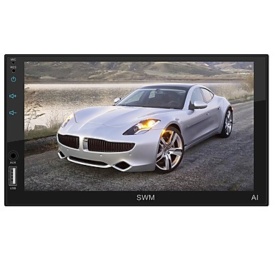 levne Auto Elektronika-SWM SWM-A1 7 inch 2 Din Další / Android 8.1 Auto MP5 přehrávač / Auto MP4 přehrávač / MP3 přehrávač do auta Dotykový displej / Mikro USB / MP4 pro Evrensel MicroUSB Podpěra, podpora Mpeg / AVI / MPG