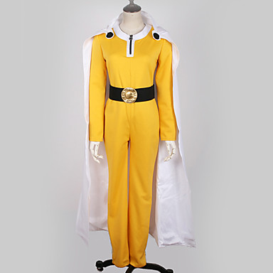 [$79.99] Inspired by One,Punch Man Cosplay Anime Cosplay Costumes Japanese  Cosplay Suits Solid Colored Top / Pants / Gloves For Men\u0027s / Women\u0027s /