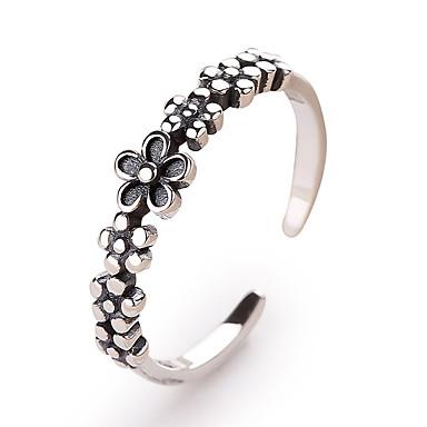 billige Motering-Dame Åpne Ring 1pc Sølv S925 Sterling Sølv Stilfull Vintage Europeisk Ferie Kontor og karriere Smykker Klassisk Flower Shape