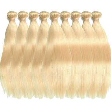 povoljno Ekstenzije za kosu-Premierwigs tkati kose Proširenja ljudske kose Ravan kroj Virgin kosa tkati Brazilska kosa Plavuša 1 komad Nježno proširenje Gust Žene Blonde