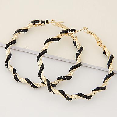 levne Dámské šperky-Dámské Náušnice - Kruhy Boncuklar Twist Circle stylové Evropský Obrovský Náušnice Šperky Žlutá / Modrá / Růžová Pro Denní Večerní oslava 1 Pair