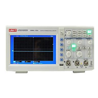 levne Testovací, měřící a kontrolní vybavení-uni-t utd2102cex digitální 2 kanály 1g 100mhz 7 palců tft lcd skladování osciloskop