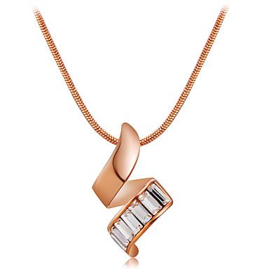 Žene Vedro Kristal Ogrlice s privjeskom Zmija pomodan Moda Elegantno Krom Pozlata od crvenog zlata Rose Gold 42 cm Ogrlice Jewelry 1pc Za Svečanost Večer stranka