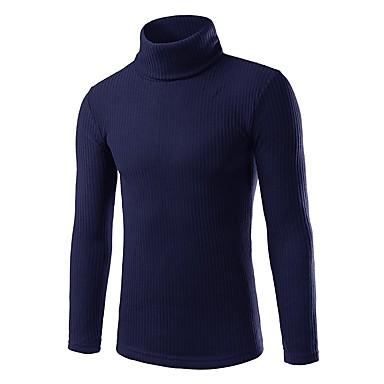 Muškarci Dnevno / Praznik / Izlasci Osnovni / Ulični šik Jednobojni Dugih rukava Uske Regularna Pullover Džemper od džempera, Dolčevita Jesen / Zima Crn / Lila-roza / Svijetlosiva M / L / XL / Rad