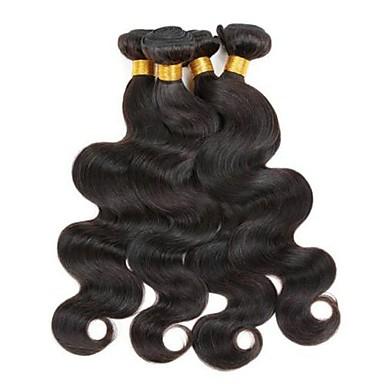 povoljno Ekstenzije od ljudske kose-6 paketića Brazilska kosa Tijelo Wave Virgin kosa Headpiece Ljudske kose plete Produžetak 8-28 inch Prirodna boja Isprepliće ljudske kose Novi Dolazak Rasprodaja Moda Proširenja ljudske kose