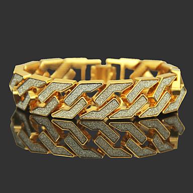 preiswerte Gliederarmband-Herrn Ketten- & Glieder-Armbänder zweifarbig Kostbar Luxus Rockig Hip-Hop Dubai vergoldet Armband Schmuck Gold / Silber Für Klub Bar
