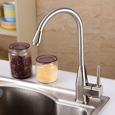 50 39 Kitchen Faucet Single Handle One Hole Electroplated Standard Spout Ordinary Kitchen Taps