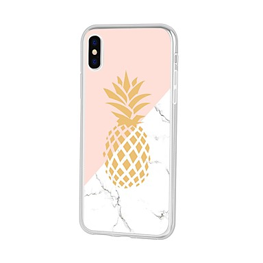 cheap Marble Case-Case For Apple iPhone XS / iPhone XR / iPhone XS Max Pattern Back Cover Cartoon / Fruit / Marble Soft TPU