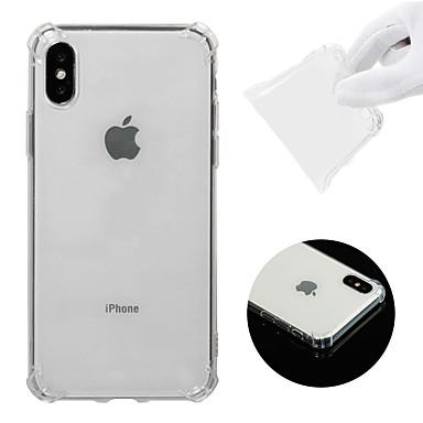 Θήκη Za Apple iPhone XS Otporno na trešnju / Prozirno Stražnja maska Jednobojni Mekano TPU