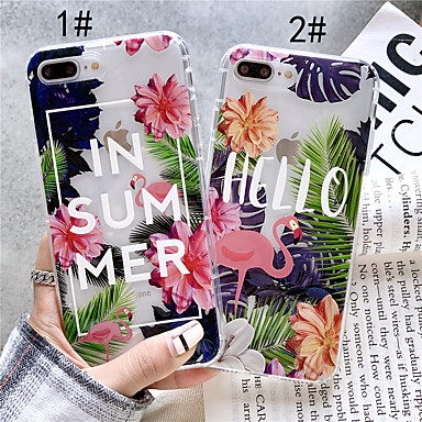 povoljno iPhone maske-Θήκη Za Apple iPhone XS / iPhone XR / iPhone XS Max Prozirno / Uzorak Stražnja maska Flamingo Mekano TPU