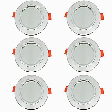 preiswerte LED-Innenbeleuchtung-6pcs 5 W 360 lm 10 LED-Perlen Leicht zu installieren Einbaulampe LED Deckenstrahler Warmes Weiß Kühles Weiß 220-240 V Zuhause / Büro Wohn- / Esszimmer / ASTM