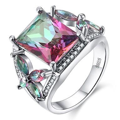 Žene Zaručnički prsten Kubični Zirconia 1pc purpurna boja Plastika Titanij Čelik Circle Shape Geometric Shape Vintage Elegantno Vjenčanje Angažman Jewelry Vintage Style Klasičan