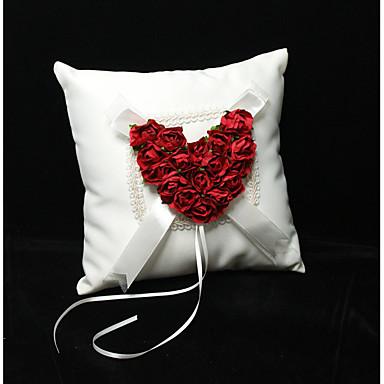 Silk Like Satin Mašnica / Čipka / Cvjetni print Saten ring pillow Vjenčanje Sva doba
