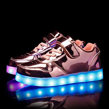 เด็กผู้ชาย / เด็กผู้หญิง Light Up รองเท้า PU รองเท้าผ้าใบ เด็กวัยหัดเดิน (9m-4ys) / เด็กน้อย (4-7ys) / Big Kids (7 ปี +) LED สีทอง / สีชมพู / เงิน ฤดูร้อน / ยาง