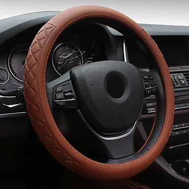 levne Doplňky do interiéru-univerzální 38cm auto 3d rýhování kožené ocelové ocelové kroužky krytu kola