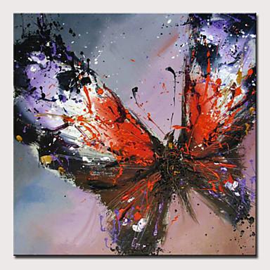 povoljno Ulja na platnu-Hang oslikana uljanim bojama Ručno oslikana - Sažetak Pop art Moderna Bez unutrašnje Frame