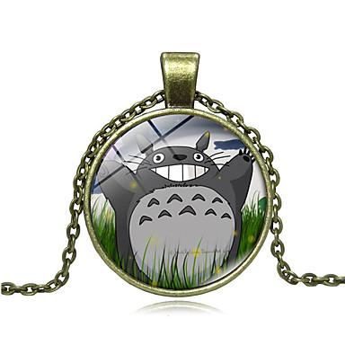 voordelige Dames Sieraden-Dames Hangertjes ketting Cartoon Lach Anime leuke Style Glas Kromi Goud Zwart Zilver 45+5 cm Kettingen Sieraden 1pc Voor Dagelijks Uitgaan