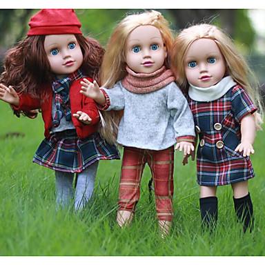 KIDDING Djevojka lutka Modna lutka Za ženske bebe 18 inch Cijeli silikon tijela Silikon Vinil - vjeran Ručno Izrađen Slatko Djeca / Teen Dječjom Uniseks Igračke za kućne ljubimce Poklon