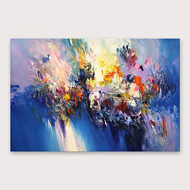 povoljno Ulja na platnu-Hang oslikana uljanim bojama Ručno oslikana - Sažetak Moderna Uključi Unutarnji okvir