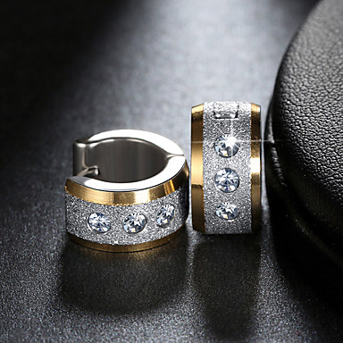 Žene Kubični Zirconia Sitne naušnice Klasičan Jednostavan Moda Tikovina Imitacija dijamanta Naušnice Jewelry Zlato / Pink / Gold / Silver Za Dnevno Rad 1 par