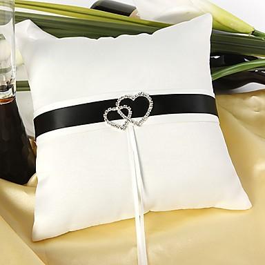 Silk Like Satin Akril Diamond / Satin Bow Saten ring pillow Vjenčanje Sva doba