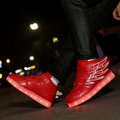 preiswerte Schuhe für Kinder-Jungen / Mädchen Leuchtende LED-Schuhe PU Sneakers Kleinkind (9m-4ys) / Kleine Kinder (4-7 Jahre) / Große Kinder (ab 7 Jahren) Walking Schnalle / LED Rosa / Schwarz / grün / Königsblau Herbst / Winter