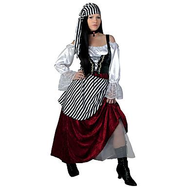 5999 Pirates Of The Caribbean Pirata Vikingo Vestidos Tocados Chaleco Mujer Cosplay De Películas Cosplay Rojo Chalecos Vestido Tocados Halloween