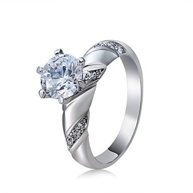 billige Motering-Dame Ring Løftering Krystall 1pc Sølv Kobber Sølvplett Seks tenger Stilfull Klassisk Elegant Bryllup Fest Smykker Klassisk Smuk
