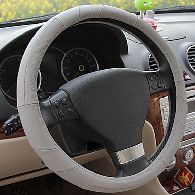 cheap Steering Wheel Covers-Steering Wheel Covers Genuine Leather Black / Beige / Gray For universal All Models All years