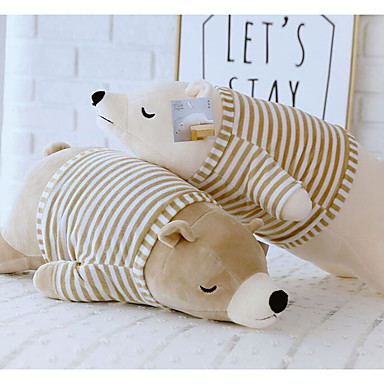 cheap Stuffed Animals-Stuffed Animal Sleeping Pillow Plush Toys Plush Dolls Stuffed Animal Plush Toy Polar bear Animals Cute Cotton / Polyester 50cm Imaginative Play, Stocking, Great Birthday Gifts Party Favor Supplies