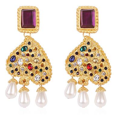 preiswerte Chandelier Ohrringe-Damen Tropfen-Ohrringe Herz Künstliche Perle Ohrringe Schmuck Gold Für Strasse 1 Paar