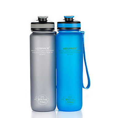 cheap Bike Accessories-UZSPACE® Kettle Sports Water Bottle 1000 ml PP PC Food Grade Material Portable Cool for Traveling Back Country Outdoor Green Grey Fuchsia Royal Blue