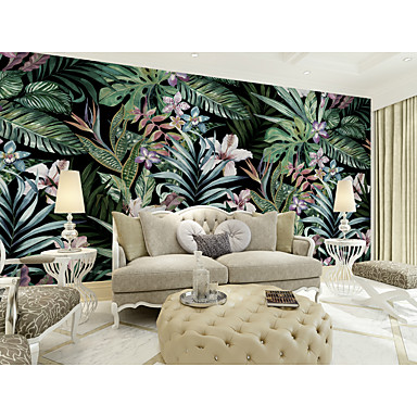 71 99 Wallpaper Mural Canvas Wall Covering Adhesive Required Floral Botanical Art Deco