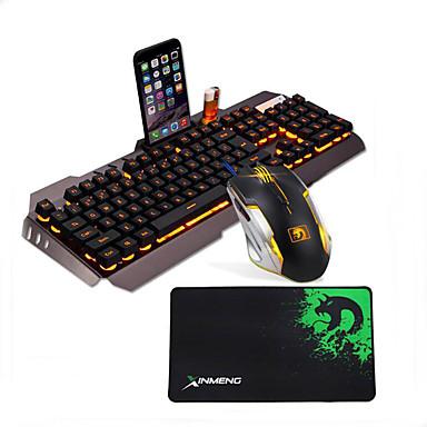 preiswerte Fantastische Spielgeräte-LITBest G3 USB verkabelt Maus-Tastatur-Kombination Farbverläufe / Hinterleuchtet Gaming-Tastatur leuchtend Gaming Mouse / Ergonomische Maus 2400 dpi