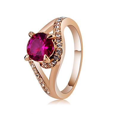 billige Motering-Dame Ring Løftering Krystall 1pc Rose Gull Chrome Gullt gull Gullplatert rose Stilfull Klassisk Elegant Bryllup Fest Smykker Klassisk Smuk / Fuskediamant