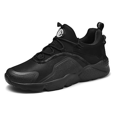 Ανδρικά Παπούτσια άνεσης Πανί Καλοκαίρι Αθλητικά Παπούτσια Περπάτημα Αναπνέει Μαύρο / Λευκό / Κόκκινο / Φορέστε την απόδειξη