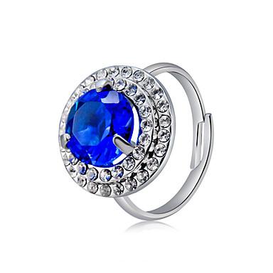 billige Motering-Dame Ring Justerbar ring Krystall 1pc Sølv Kobber Sølvplett Fuskediamant Stilfull trendy Romantikk Fest Aftenselskap Smykker Klassisk Smuk