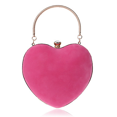 cheap L.WEST®-Women's Crystals Polyester / Alloy Evening Bag Rhinestone Crystal Evening Bags Solid Color Blushing Pink / Fuchsia / Royal Blue / Fall & Winter