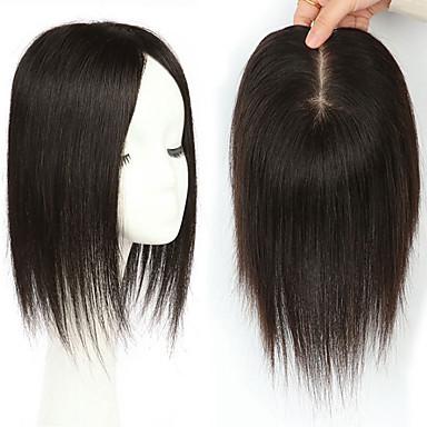 povoljno Ekstenzije za kosu-Laflare Isječak U / S perika Proširenja ljudske kose Ravan kroj Ljudska kosa Produžetak Ekstenzije od ljudske kose Kose za kosu Brazilska kosa 1 komad Modni dizajn Nježno Najbolja kvaliteta Žene Crna