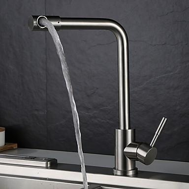 [$57.16] Kitchen faucet - Single Handle One Hole Standard Spout  Contemporary Kitchen Taps
